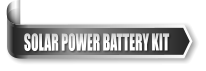 SOLAR POWER BATTERY KIT